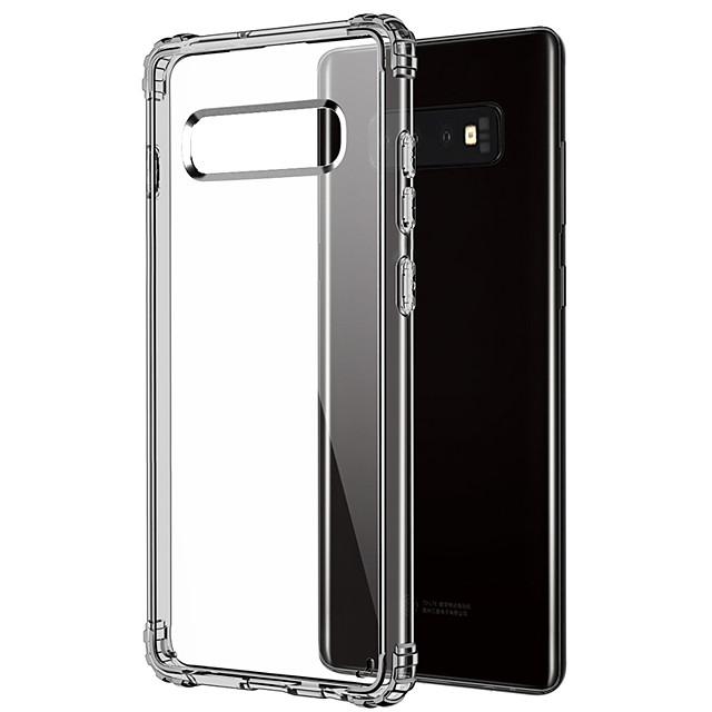 Кейс для Назначение SSamsung Galaxy Galaxy S10 Защита от удара / Прозрачный Кейс на заднюю панель Прозрачный Мягкий ТПУ