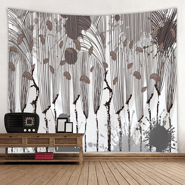 Peinture à l'encre de Chine style tapisserie murale art décor couverture rideau suspendu maison chambre salon décoration abstraite fleur plante floral
