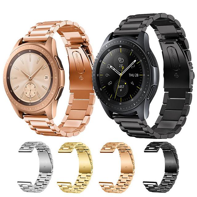 สายนาฬิกา สำหรับ Samsung Galaxy Watch 46 / Samsung Galaxy Watch 42 Samsung Galaxy หัวกลัดแบบคลาสสิก สแตนเลส สายห้อยข้อมือ