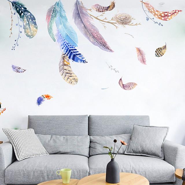 깃털 둥지 벽 스티커-단어& amp 인용 벽 스티커 캐릭터 공부방 / 사무실 / 식당 / 주방 45 * 60cm