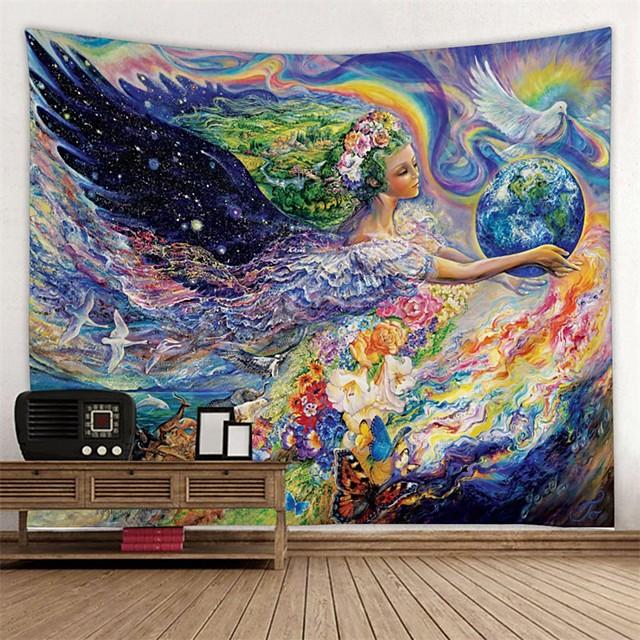 클래식 테마 / 페어리 테일 테마 벽 장식 100% 폴리에스테르 우아한 벽 예술, 벽 태피스트리 장식