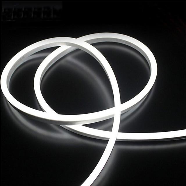 ONDENN 2m 유연한 LED 조명 스트립 240 LED 2835 SMD 6mm 1 개 따뜻한 화이트 화이트 레드 방수 컷테이블 장식 12 V