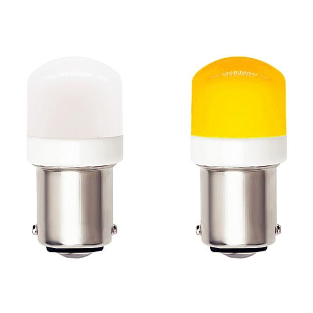 2pcs 1156 מכונית ba15s אוטומטי הוביל נורות 4.5w 9-30v 3030 smd 6 הוביל לבן צהוב עבור אותות המנורה drl ערפל מנורת בלם אור