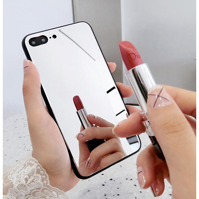Кейс для Назначение Apple iPhone XR / iPhone XS / iPhone XS Max Зеркальная поверхность Кейс на заднюю панель Однотонный Твердый Закаленное стекло