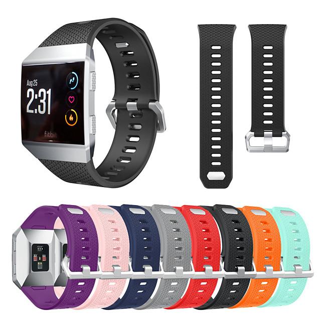 Bracelet de montre connectée pour Fitbit 1 pcs Boucle Classique Silicone Remplacement Sangle de Poignet pour Fitbit ionique