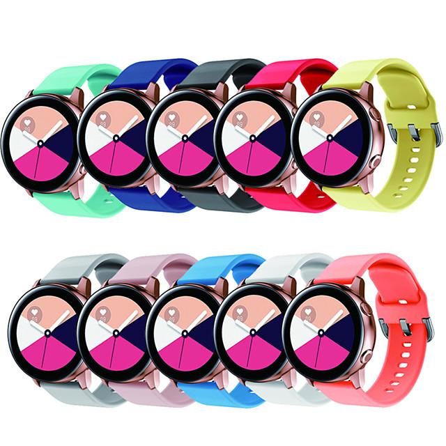 20mm pulseira de relógio para samsung engrenagem s2 galaxy watch active 42mm esporte silicone correa pulseira pulseira acessórios do relógio de cinto