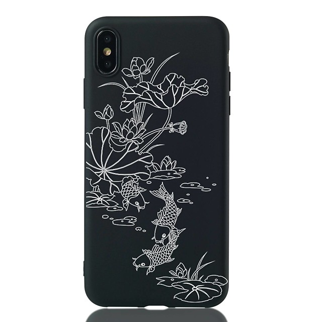 Case For Apple iPhone 11 / iPhone XR / iPhone 11 Pro Shockproof / Pattern Back Cover Flower Soft TPU