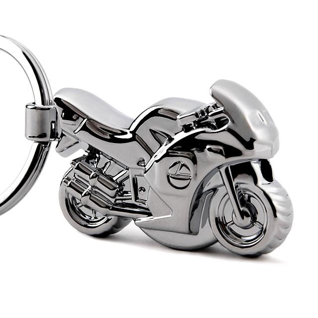 Anello portachiavi Anello portachiavi Moto Metallico Per adulto Da ragazzo Da ragazza Giocattoli Regalo