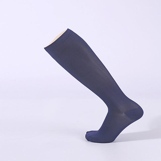 Homme Femme Chaussettes de sport Chaussettes de Randonnée 1 paire Extérieur Extensible Confortable Chaussettes de compression Nylon Blanche Noir Bleu marine pour Escalade