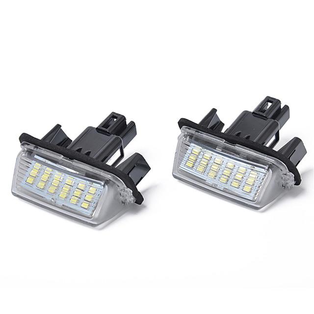 18-smd 3w led lumière de plaque d'immatriculation pour toyota camry yaris