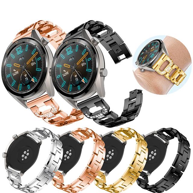 Smart Watch-band för Huawei 1 pcs Sportband Smyckesdesign Rostfritt stål Ersättning Handledsrem för Huawei Watch GT Watch 2 Pro