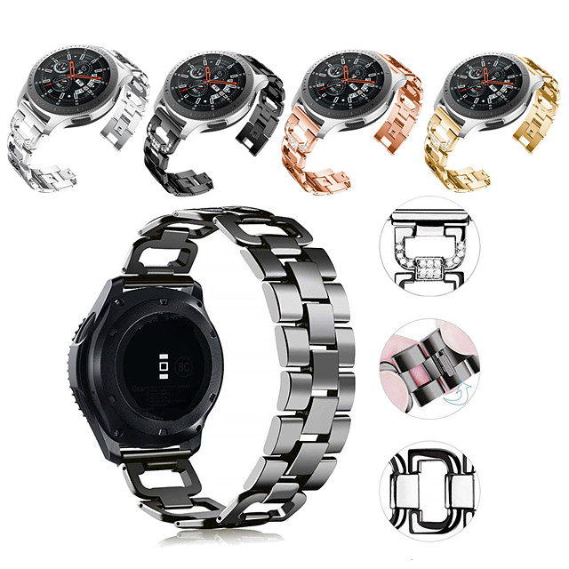 Watch Band na Gear S3 Frontier / Gear S3 Classic / Samsung Galaxy Watch 46 Samsung Galaxy Pasek sportowy / Design biżuterii Stal nierdzewna Opaska na nadgarstek