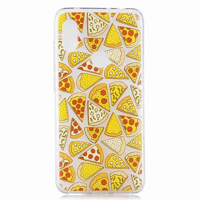 kutija za xiaomi mi 8 lite / redmi 6 pro pattern / prozirna stražnja strana pizza soft tpu za redmi note 6 pro / redmi 6a / redmi 6 / redmi 5plus / redmi 5 / redmi 5a