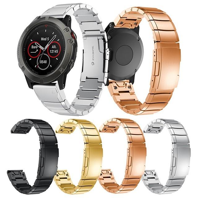 smartwatch band for fenix 5x / 5x pluss / 3 garmin moderne spenne rustfritt stål quaitx band mote myk armbånd