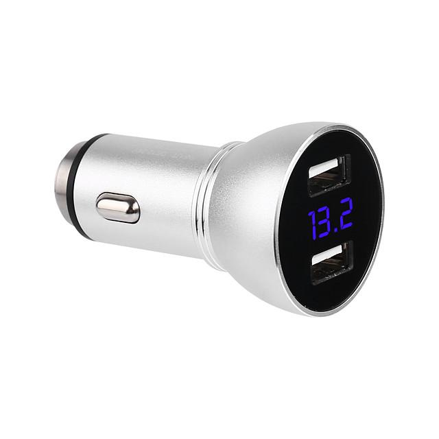 qc3.0 szybka ładowarka samochodowa dc5v 2.4a podwójny 12 v-24 v wejście 2 porty usb led cyfrowy wyświetlacz szybka ładowarka usb wsparcie telefon / stół i inne urządzenia