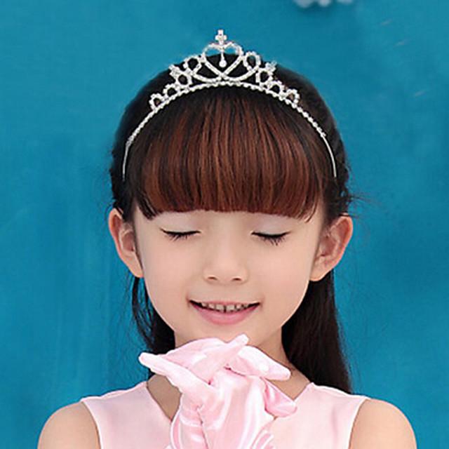 Femme Elégant Princesse Zirconium Plaqué argent Alliage Soirée - Couleur Pleine