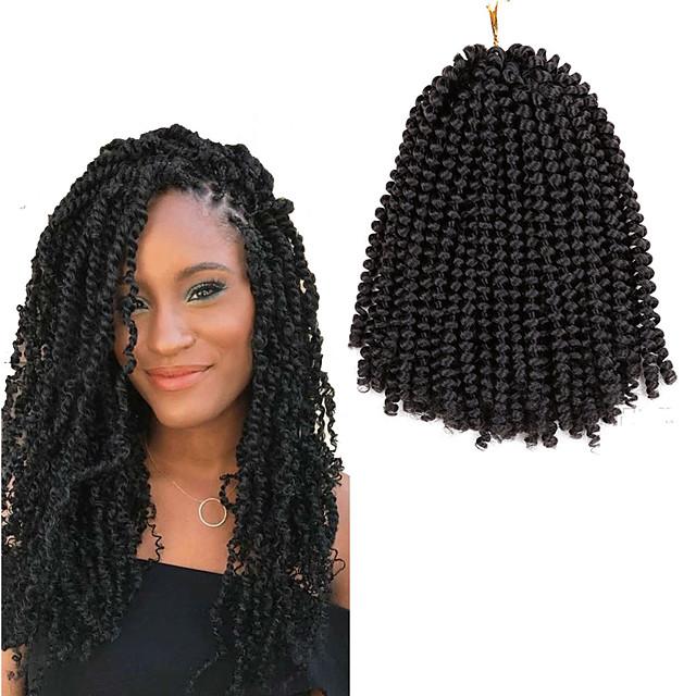 Crochet Hair Braids Torsades de printemps Box Braids Couleur naturelle Cheveux Synthétiques Rajouts de Tresses 1pack Cheveux Colorés