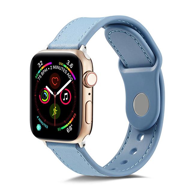 tpugenuine skórzany pasek do zegarka Apple 44mm / 40mm / 42mm / 38mm bransoletka soft watchband do iwatch pasa 4/3/2/1