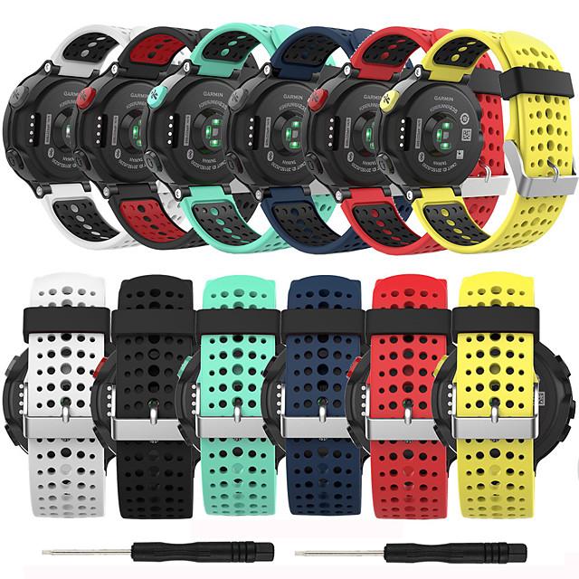 weiches silikon ersatzarmband für garmin forerunner 235/220/230/620/630/735 smart watch