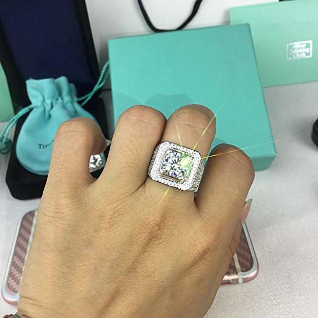 Muži Prsten Syntetický diamant Dláždit Bílá Měď Móda Luxus Velký 1ks 8 9 10 11 12 / Pánské