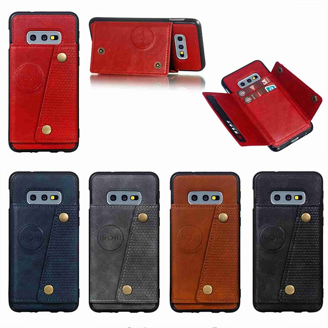Coque Pour Samsung Galaxy S9 / S9 Plus / S8 Plus Porte Carte / Antichoc / Avec Support Coque Couleur Pleine Dur faux cuir