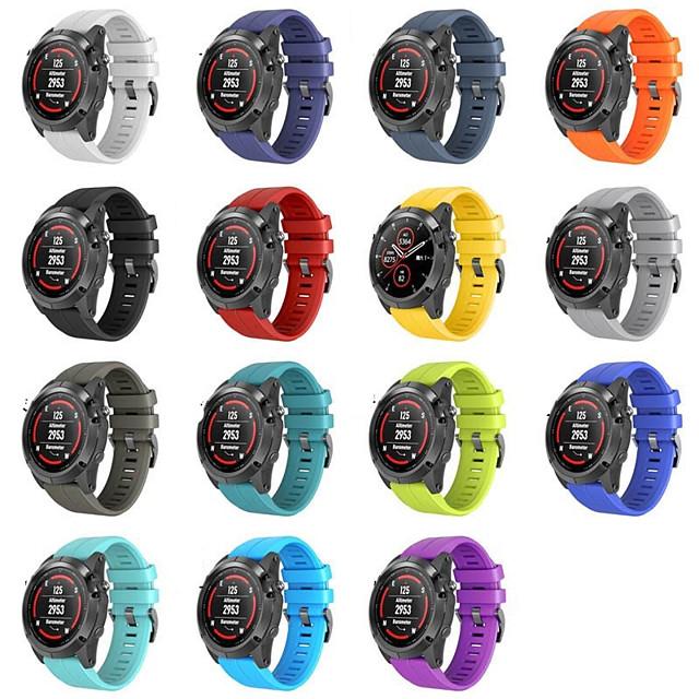Cinturino per orologio  per Approach S5 / Approach S20 / Fenix 5 Garmin Cinturino sportivo Silicone Custodia con cinturino a strappo