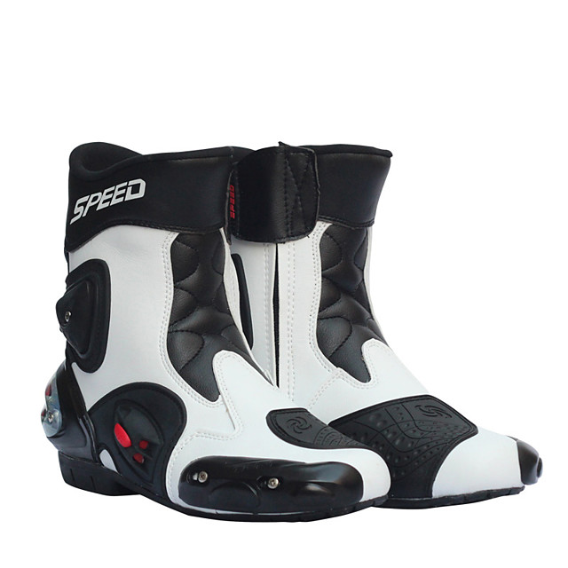 Men Motorcycle Racing Shoes Leather Motorcycle Boots Riding Motorbike Motocross Off-Road Moto Boots Shoe