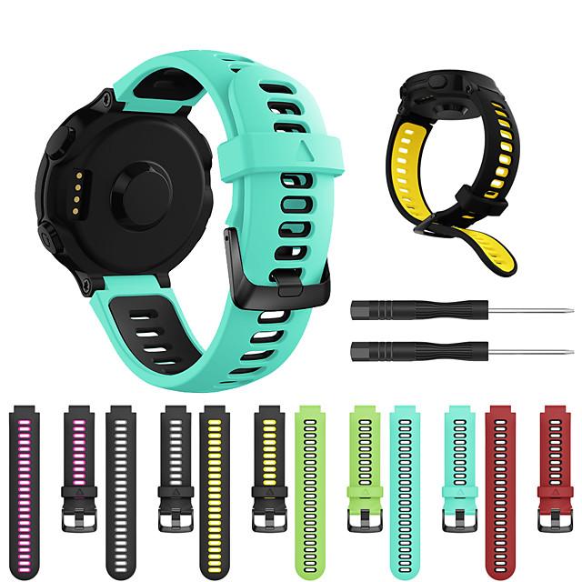 Cinturino per orologio  per Forerunner 235 / Forerunner 230 / Forerunner 220 Garmin Cinturino sportivo Silicone Custodia con cinturino a strappo