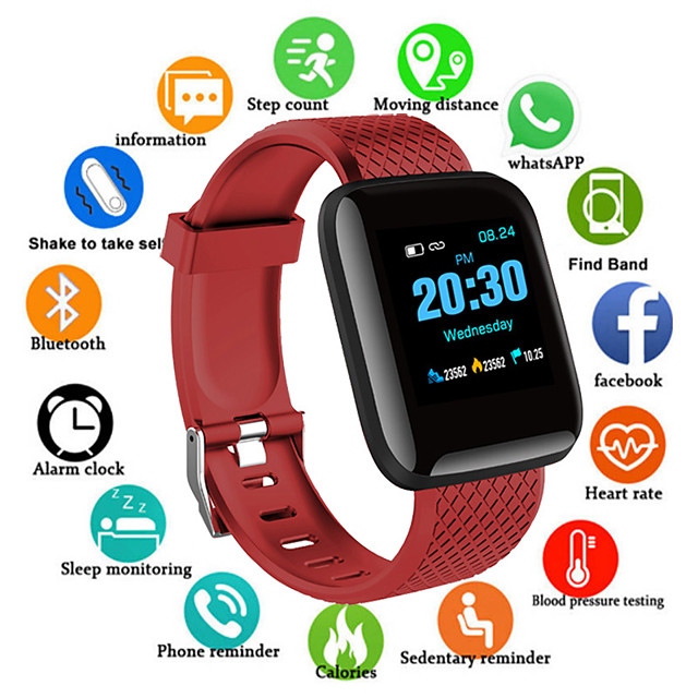 D13S Smartwatch for Android iOS Bluetooth 1.3 inch Screen Size IPX-4 Waterproof Level Waterproof Touch Screen Heart Rate Monitor Blood Pressure Measurement Sports Pedometer Call Reminder Activity