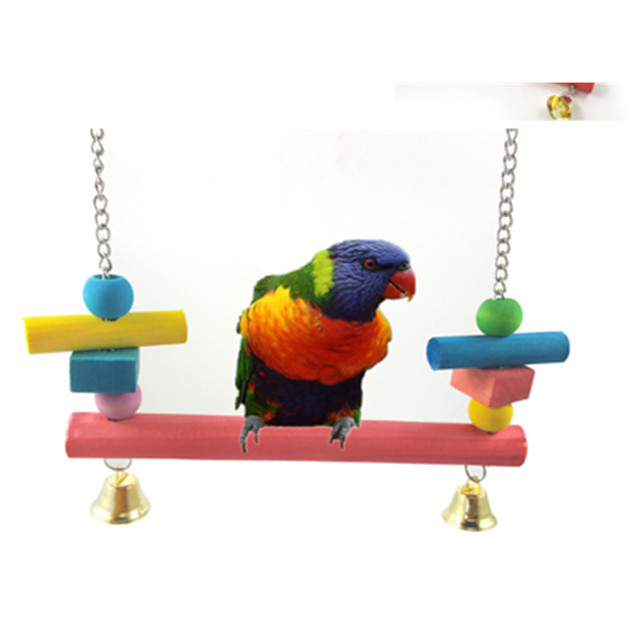 Draagbaar - Plastic/Hout - Vogelspeelgoed