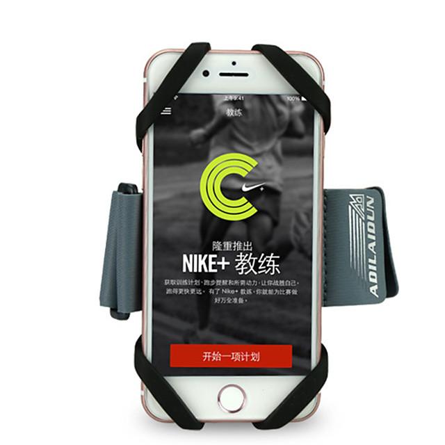 Кейс для Назначение Apple iPhone 11 / iPhone 11 Pro / iPhone 11 Pro Max Нарукавная повязка С ремешком на руку Однотонный Мягкий силикагель