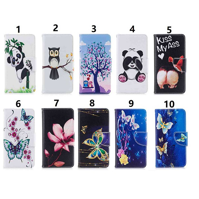 Coque Pour Huawei Huawei P30 / Huawei P30 Pro / Huawei P30 Lite Portefeuille / Antichoc / Avec Support Coque Intégrale Papillon / Animal / Panda Dur faux cuir
