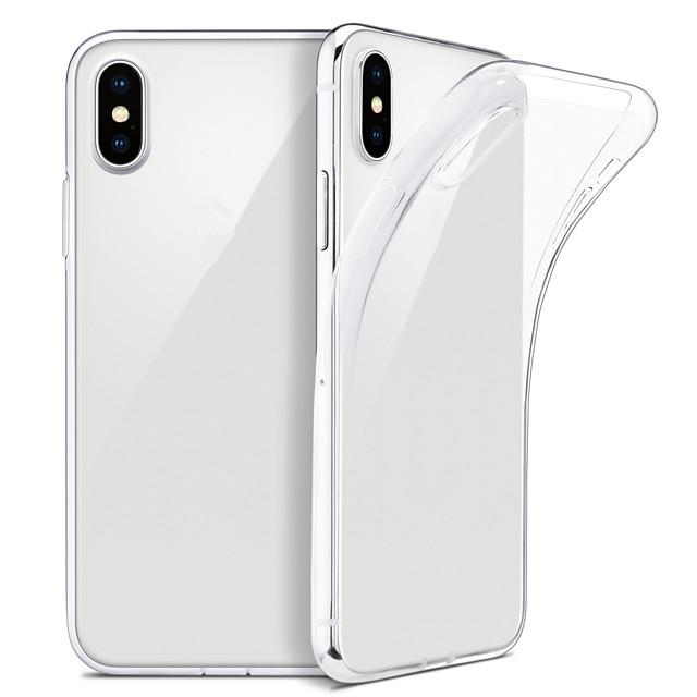 чехол для iphone xs max xs тонкий прозрачный мягкий чехол для тпу поддерживает беспроводную зарядку для iphone xr 8 плюс 8 7 плюс 7 6 плюс 6