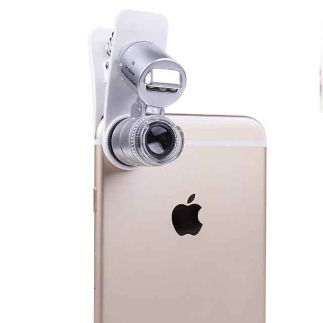 telefon mobil microscop macro obiectiv 60x optic zoom magnifier micro camera clip universal pentru iphone sumgung