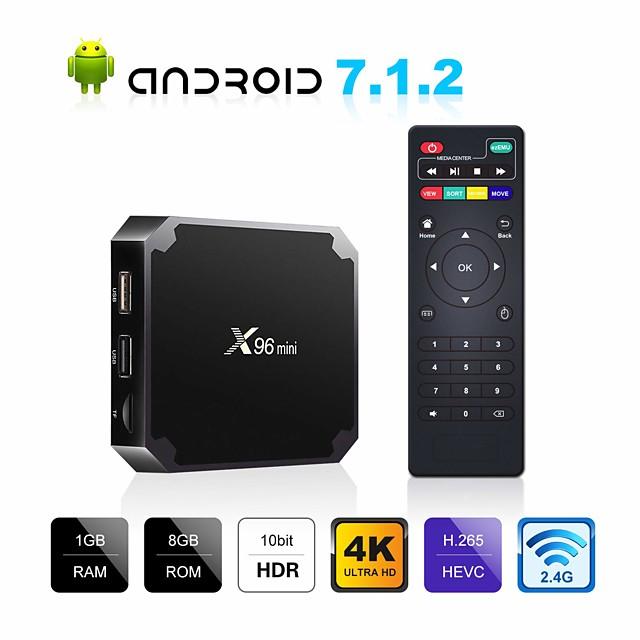 Android7.1.1 TV-box X96 mini 4K Amlogic S905W 1GB 8GB