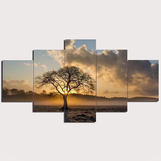 Imprimé Impression sur Toile - Paysage Traditionnel Moderne Cinq Panneaux Art Prints