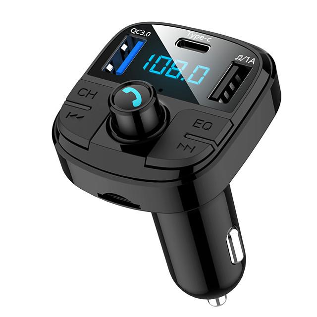 MUZILI BT29 Bluetooth 5.0 Kit voiture Bluetooth Mains libres de voiture Bluetooth / Protection contre les surintensités / QC 2.0 Automatique