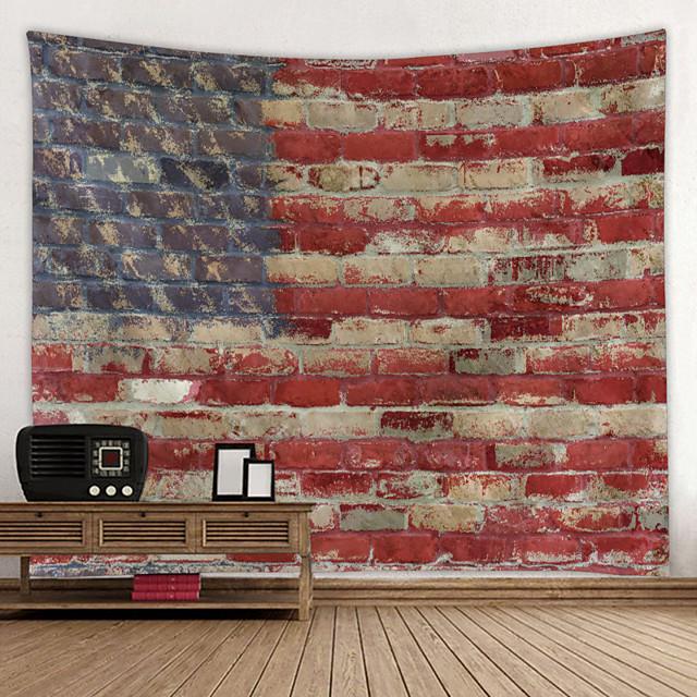 Peinture à l'huile style tapisserie murale art décor couverture rideau suspendu maison chambre salon décoration américain usa drapeau américain