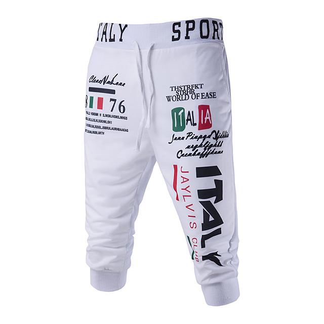 Men's Basic Loose Chinos / wfh Sweatpants Pants - Solid Colored White Black Gray US36 / UK36 / EU44 US38 / UK38 / EU46 US40 / UK40 / EU48