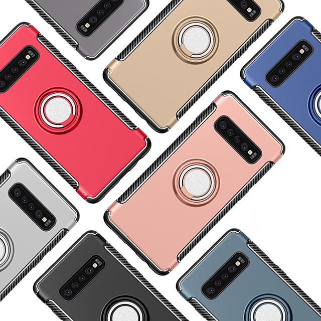 Veske til Samsung Galaxy Galaxy S10 Plus / S7 Ringholder Bakdeksel Solid farget hard pc for Galaxy S10 / Galaxy S10 Plus / Galaxy S10 e