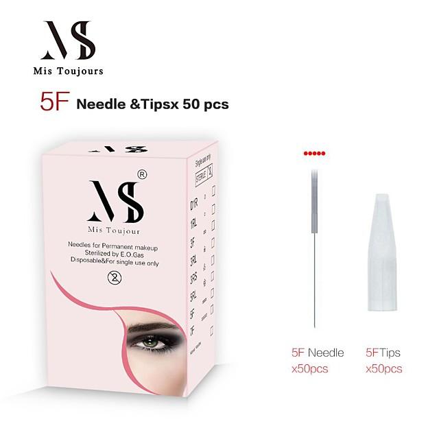 kits 1 set inox + 1 aiguille de maquillage permanente en ABS& conseils