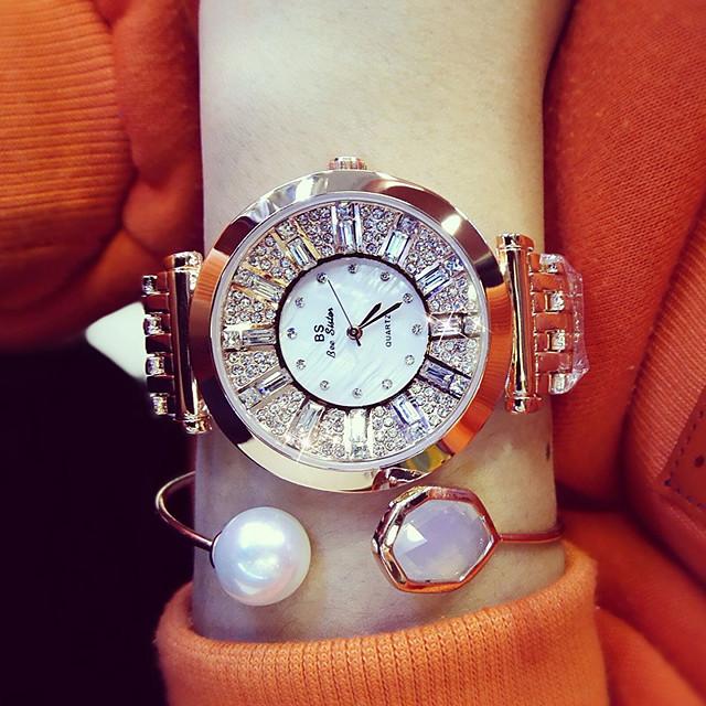 bs doamnelor oțel curea ceas de afaceri rochie ceas diamant ceas