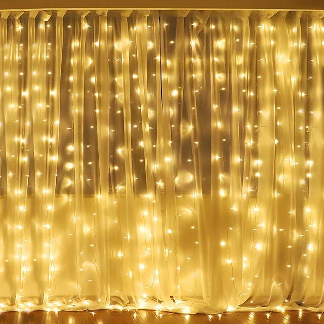 Noël décoration de mariage lumières 3mx2m 240leds blanc chaud blanc multicolore lumière chambre maison intérieur extérieur décor rideau guirlande lumineuse