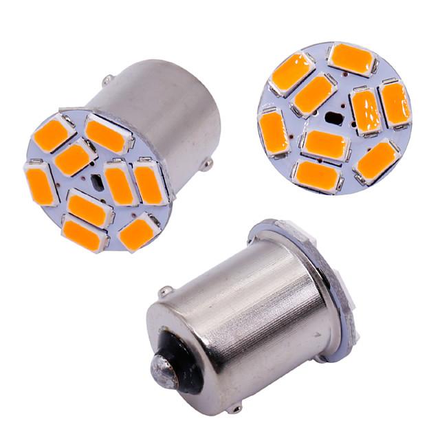 10pcs voiture s25 1156 ba15s p21w 5630 9 ampoules smd pour le côté de la voiture lampe témoin clignotants s'allume feu de freinage orange blanc 12v