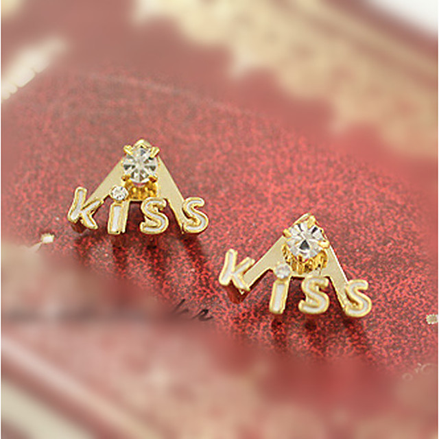 Women's Stud Earrings Geometrical Precious Fashion Earrings Jewelry Gold For Christmas Street Gift Date Vacation 1 Pair
