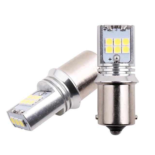 2 قطع p21w أدى ba15s py21w bay15d p21 / 5 واط 1157 1156 3030 led 15smd بدوره إشارة ضوء سيارة احتياطي مصابيح الفرامل ضوء في canbus