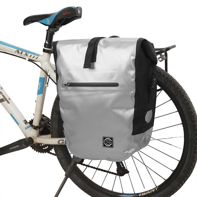 16 L ตะกร้าของจักรยาน / กระเป๋าใส่ลำตัวจักรยาน มัลติฟังก์ชั่ แถบสะท้อนแสง ทนทาน Bike Bag พีวีซี โพลีเอสเตอร์ 600D Bicycle Bag Cycle Bag ปั่นจักรยาน ออกกำลังกายกลางแจ้ง จักรยาน