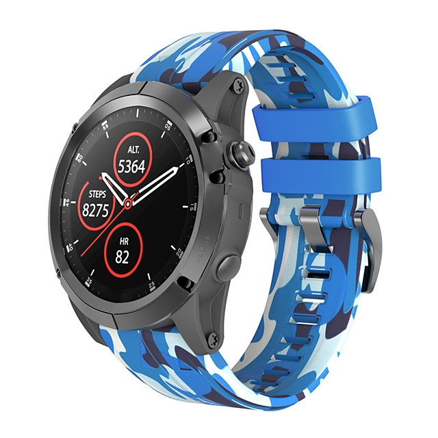 สายนาฬิกา สำหรับ Fenix 5x / Fenix 5x Plus / Fenix 3 HR Garmin หัวกลัดแบบคลาสสิก ยางทำจากซิลิคอน สายห้อยข้อมือ