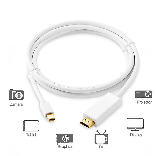 кабель-адаптер mini displayport / соединительный кабель, кабель-адаптер mini displayport к hdmi 1.4 / соединительный кабель штекер - штекер 1,8 м (6 футов)
