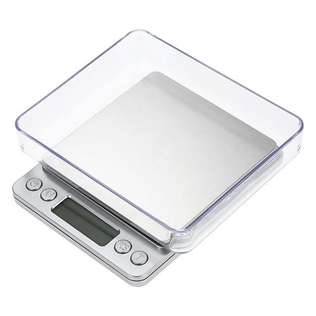 Bilancia digitale da 3000g con schermo LCD automatico bilancia da cucina digitale con 2 vassoi